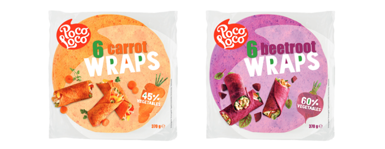 <center>New in our range:<br><center>Poco Loco vegetable wraps